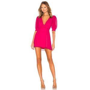 LPA Double Layer Wrap Dress in Fuchsia